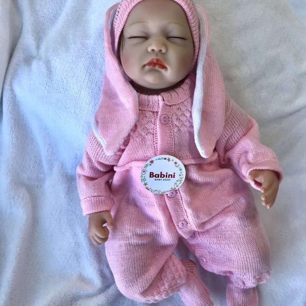 ajuar conejo bebe rosado