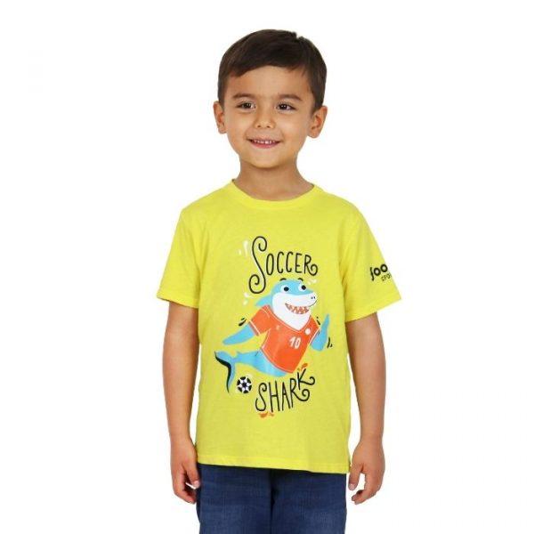 Camiseta Soccer Shark amarilla