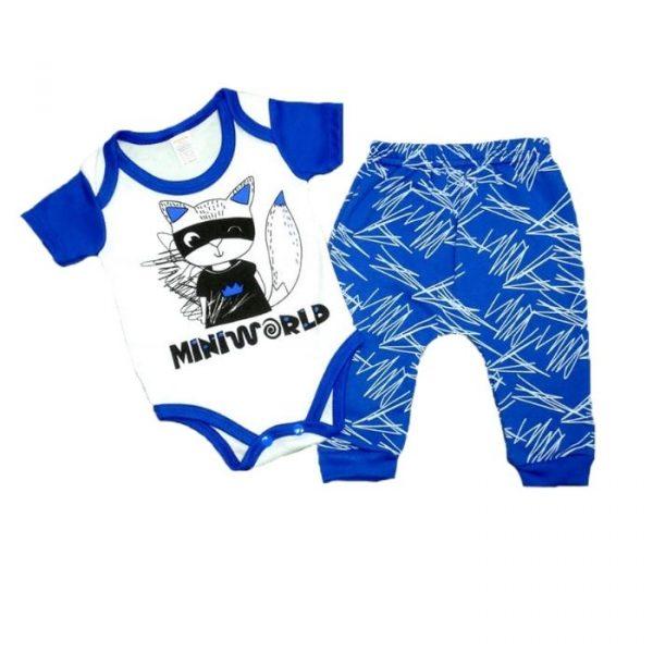 Conjunto Body + Pantalón Zorro Azul