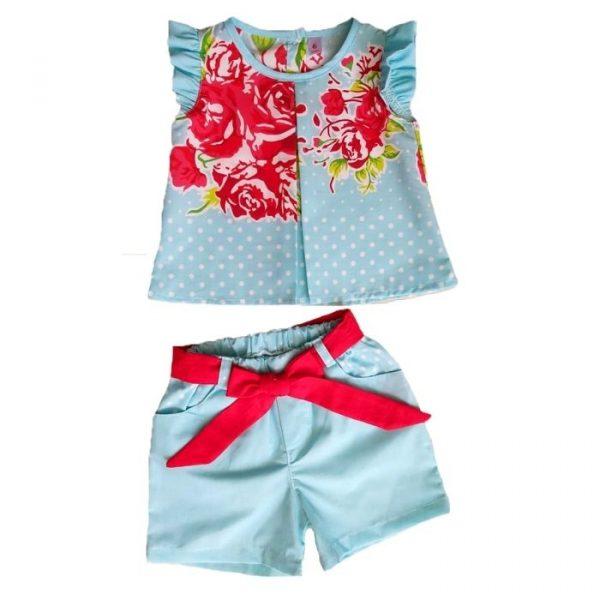 Conjunto Rosas Blusa + Short