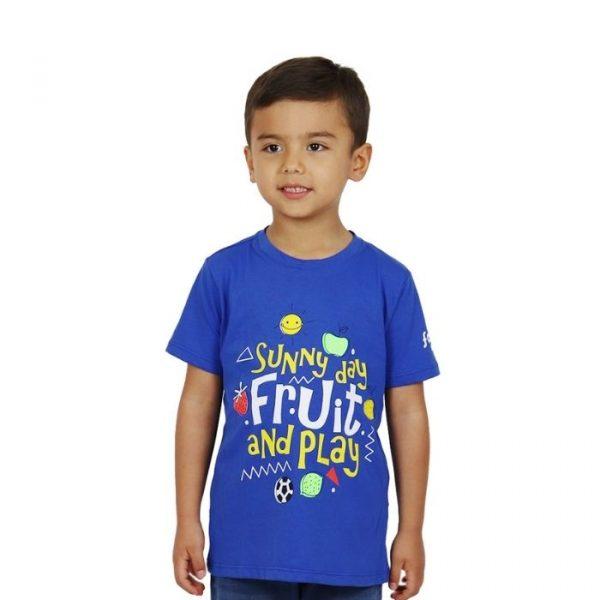 Camiseta Fruit & Play azul