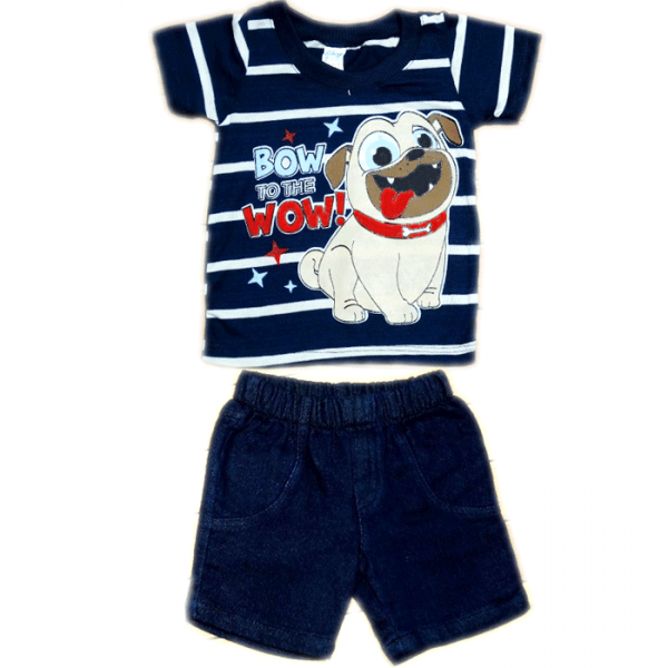 Camiseta azul + Pantaloneta Puppy Dog Pals