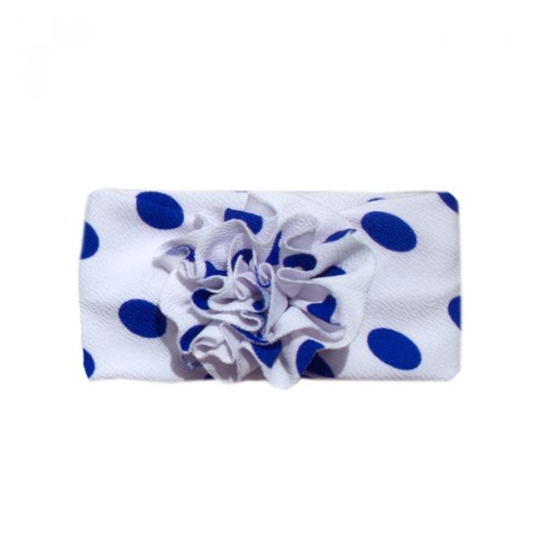 Balaca Pompón Blanca Pepas Azules