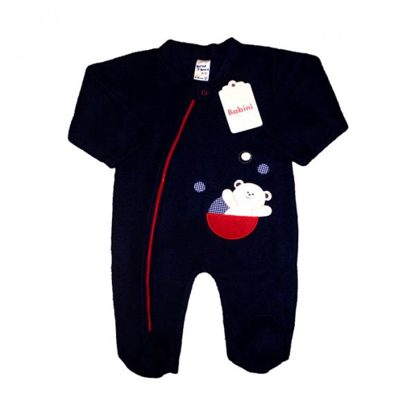 Pijama Enteriza Azul Oscuro Osito