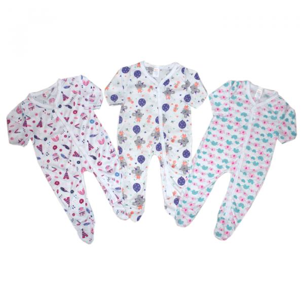 Set de 3 Pijamas Enterizas para Niña