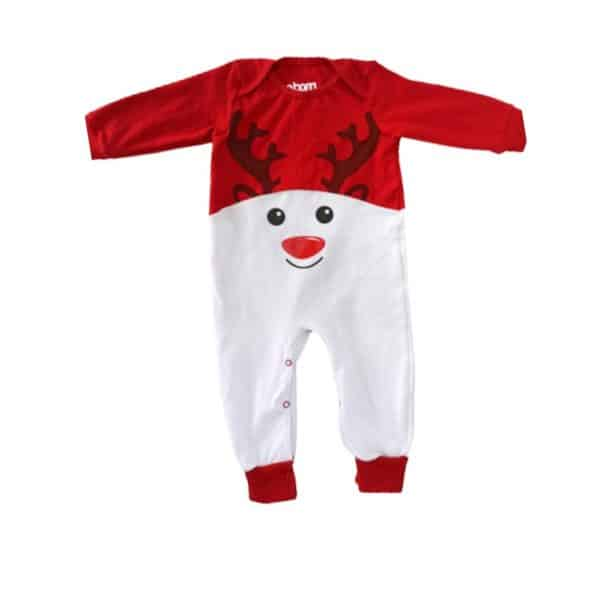 Pijama reno blanco y rojo