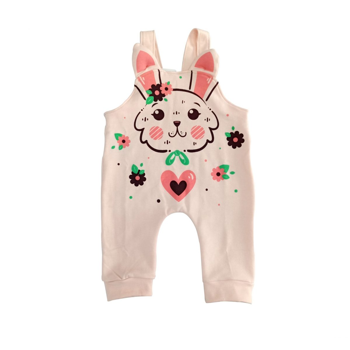 Overol conejo rosa