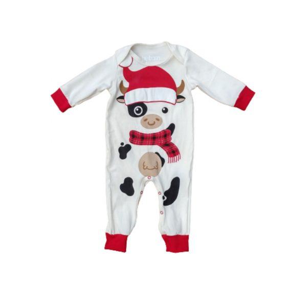 Pijama vaquita navidad roja