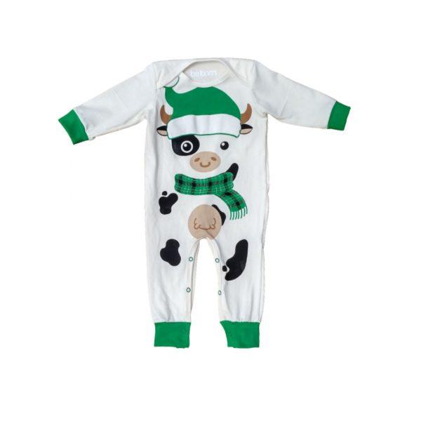 Pijama vaquita navidad verde