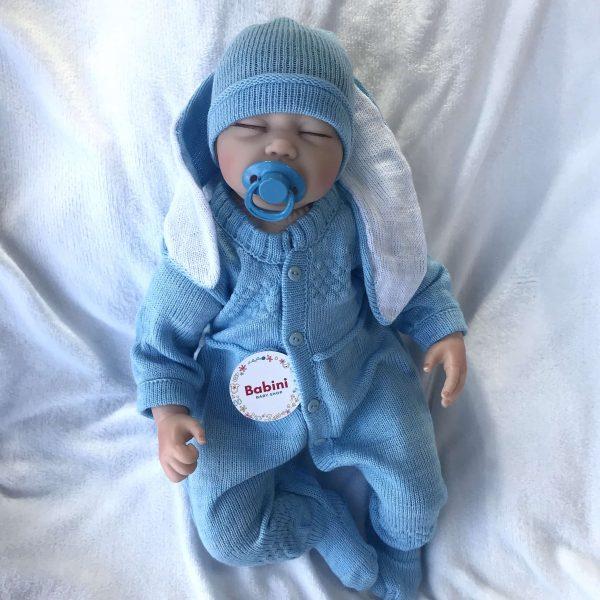 ajuar conejo bebe azul
