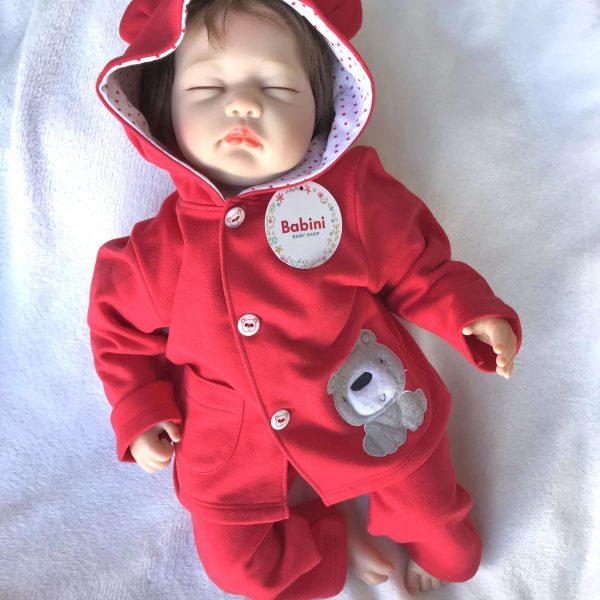 sudadera roja bebe