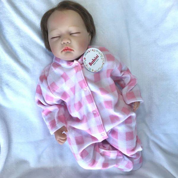pijama enteriza terminca bebe cuadros rosado