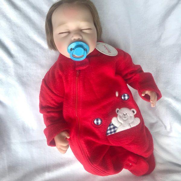 pijama termica para bebe roja