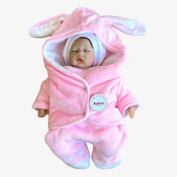 Sleeping rosado cobija con mangas para bebes