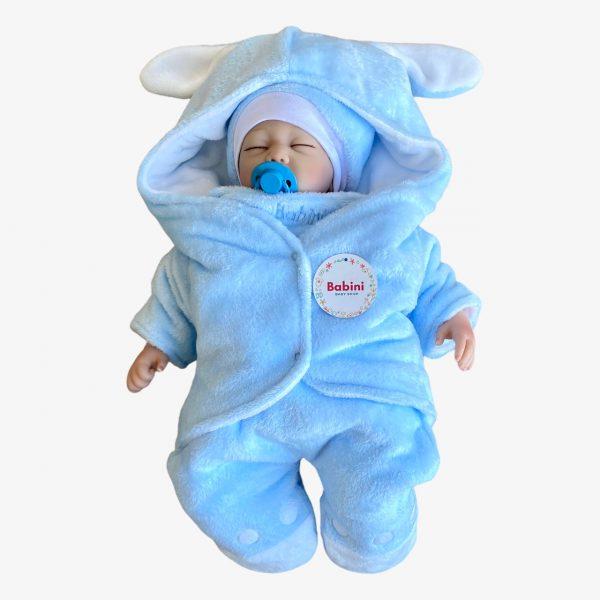 sleeping enterizo cobertor manta para bebes mangas azul
