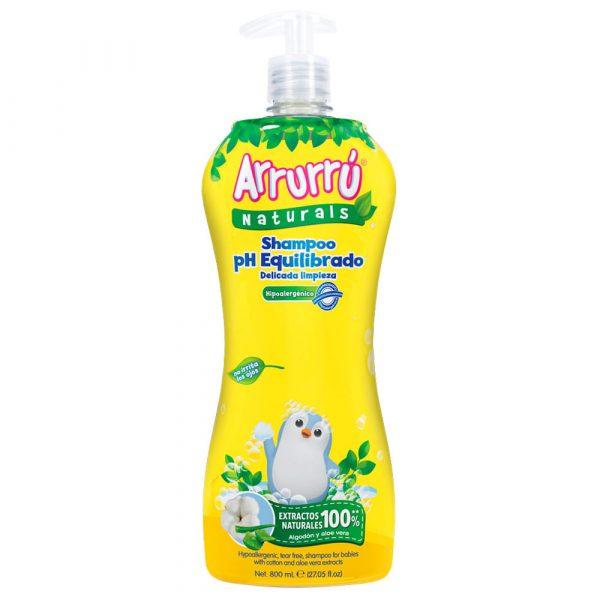 Shampoo Arrurrú naturals pH equilibrado x 800ml
