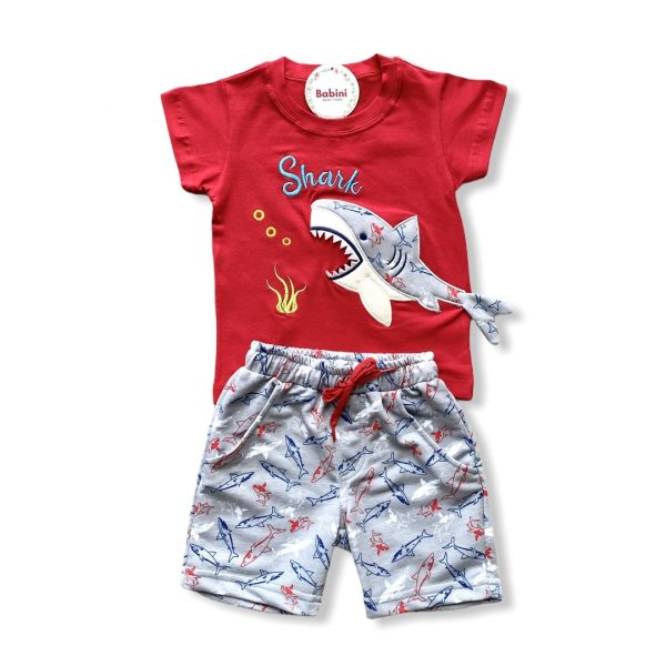conjunto tiburon para niño