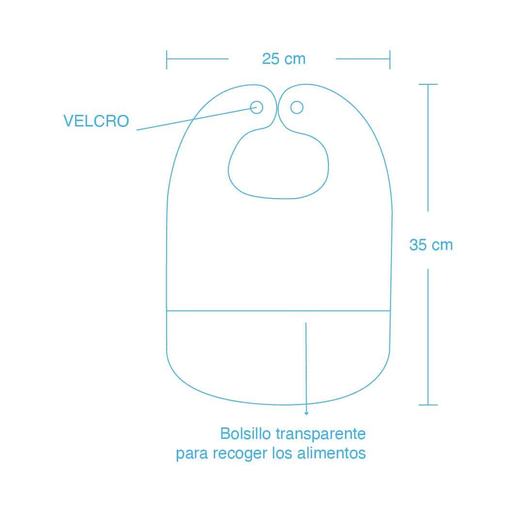 Babero plástico con bolsillo sapito