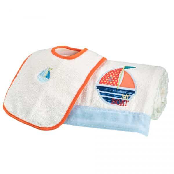 Set de toalla y babero