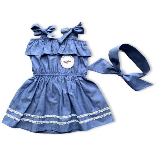 vestido niña azul