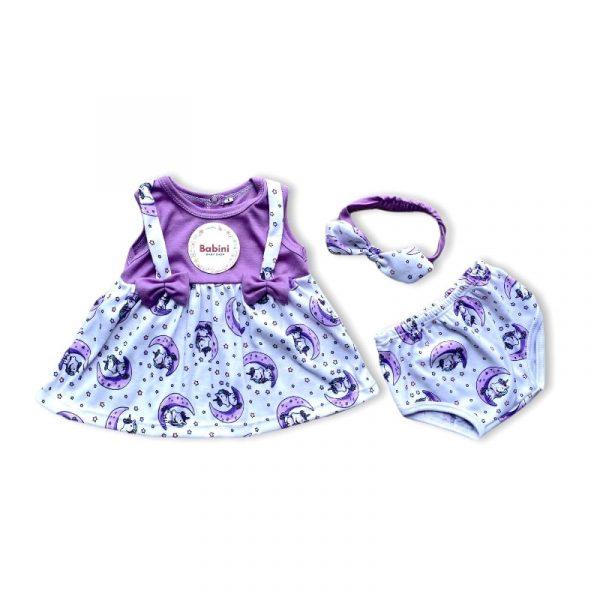 vestido lila bebes
