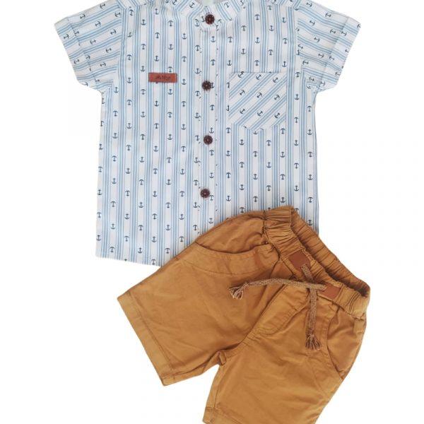 conjunto camisa anclas