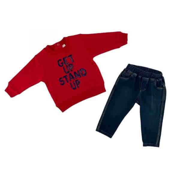 conjunto getup rojo bebe
